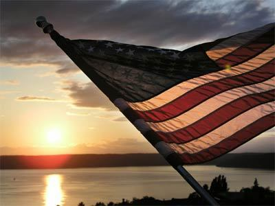 american-flag sunset
